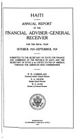 Haiti  Annual Report of the Financial Adviser General Receiver PDF