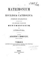 De matrimonio in ecclesia catholica