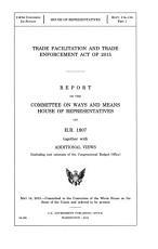 Trade Facilitation and Trade Enforcement Act of 2015 PDF