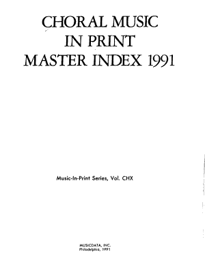 Choral Music in Print