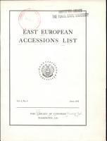 East European Accessions Index PDF