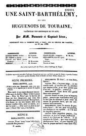 Une Saint-Barthélemy: vaudeville historique en un acte