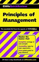 CliffsQuickReview Principles of Management PDF