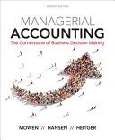 Managerial Accounting  The Cornerstone of Business Decision Making PDF