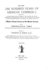 One Hundred Years of American Commerce