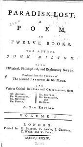 Paradise Lost: A Poem in Twelve Books, Volume 1