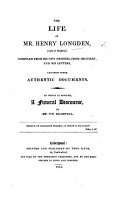 The Life of H  Longden     and Other Documents  Compiled from His Own Memoirs  To which is Affixed a Funeral Discourse by W  Bramwell PDF