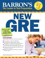 Barron s New GRE Graduate Record Examination PDF