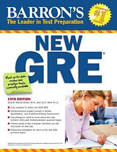 Barron s New GRE Graduate Record Examination Book
