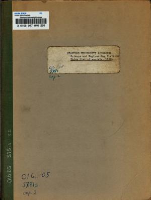 Union Lists of Serials PDF