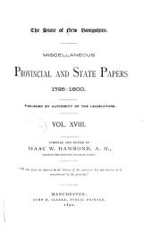 Provincial and State Papers: Volume 18