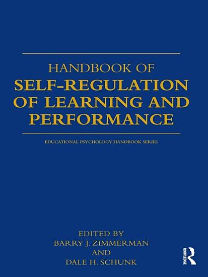 Handbook of Self Regulation of Learning and Performance PDF