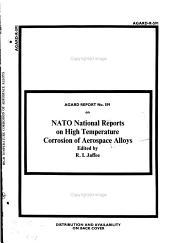 NATO National Reports on High Temperature Corrosion of Aerospace Alloys PDF