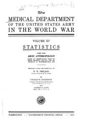 The Medical Department of the United States Army in the World War: Volume 15, Part 1