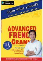Advanced French Grammar PDF