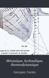 Mécanique, hydraulique, thermodynamique