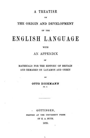 A treatise on the origin and development of the English language PDF