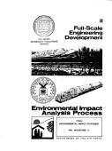 Final Environmental Impact Statement Full Scale Engineering Development