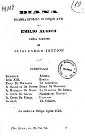 Diana dramma storico in cinque atti di Emilio Augier