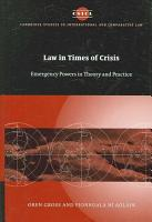 Law in Times of Crisis PDF