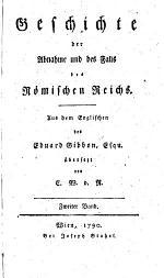 Geschichte der Abnahme und des Falls des Römischen Reichs