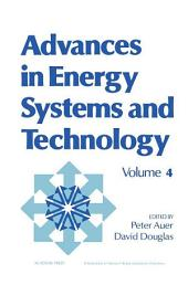 Advances in Energy Systems and Technology: Volume 4