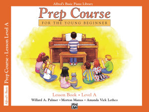 Alfred s Basic Piano Prep Course  Lesson Book A