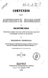 Compendio delle antichita romane: Volume 1