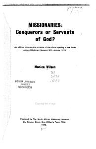 Missionaries Book