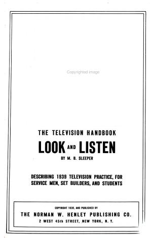 The Television Handbook  Look and Listen