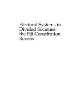 Electoral Systems in Divided Societies PDF
