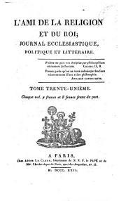L'Ami de la religion: journal ecclésiastique, politique et littéraire, Volume31