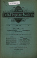 Download Bulletin of the American Medical Temperance Association Book