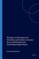 Beitr  ge zur Rezeption der britischen und irischen Literatur des 19  Jahrhunderts im deutschsprachigen Raum PDF