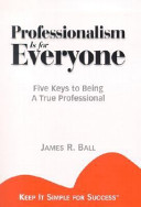 Professionalism is for Everyone