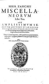 Miscellaneorum libri tres