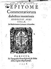 Epitome Commentariorum dialecticae inventionis