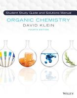 Organic Chemistry  Student Solution Manual and Study Guide PDF