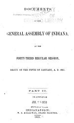 Documentary Journal Of The General Assembly Of The State Indiana Book PDF