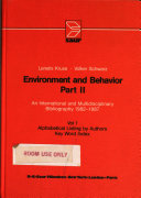 Environment and Behaviour  Alphabetical listing by authors  key word index   vol  2  Abstracts PDF