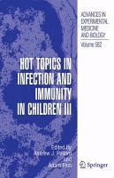 Hot Topics in Infection and Immunity in Children III PDF