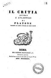 Il Critia, ovvero L'Atlantico di Platone