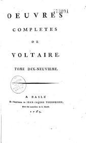 Oeuvres complètes de Voltaire: Volume22