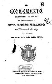 Il giuramento: melodramma in tre atti : da rappresentarsi nel Regio Teatro nel carnovale del 1839