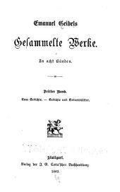 Emanuel Geibels gesammelte Werke: in acht Bänden, Bände 3-4