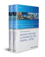 The Encyclopedia of Research Methods in Criminology and Criminal Justice  2 Volume Set PDF
