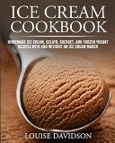 Ice Cream Cookbook Book PDF