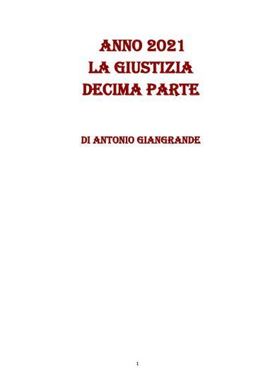 ANNO 2021 LA GIUSTIZIA DECIMA PARTE PDF