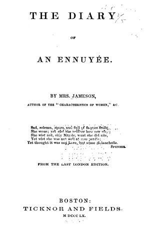 The Diary of an Ennuy  e