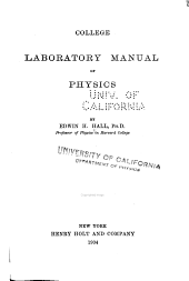 College Laboratory Manual of Physics
